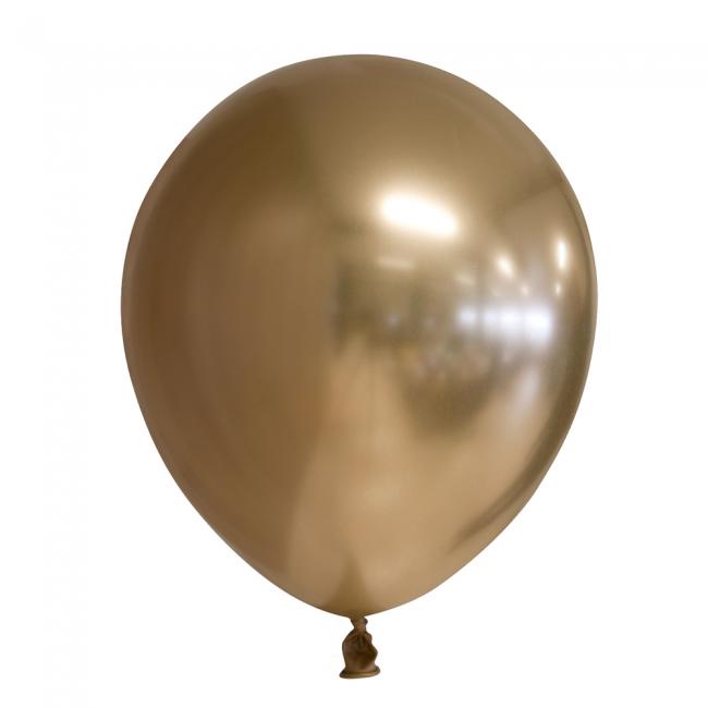 """5st Chrome Ballonnen Goud 12"""""""