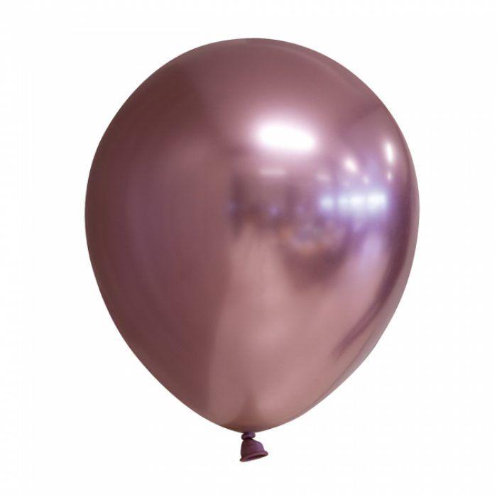 "5st Chrome Ballonnen Roségoud 12"""