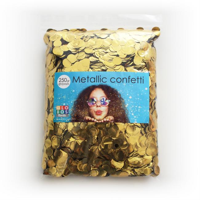 Confetti Metallic Goud 10mm 250gr