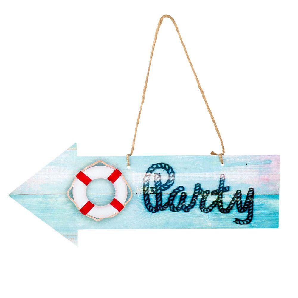 """Decoratiewijzer """"Party"""" Navy 16x40cm"""