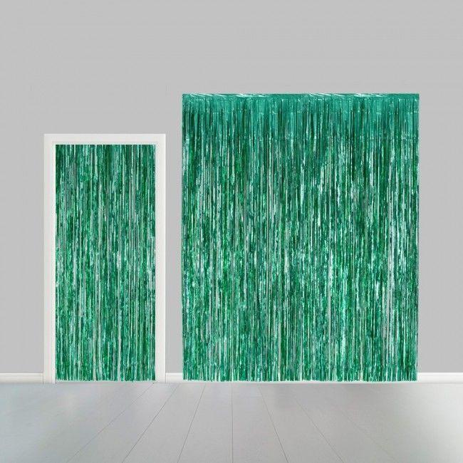 Deurgordijn Folie Uni Groen 100x240cm Brandv.