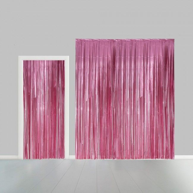 Deurgordijn Folie Uni Licht Roze 100x240cm Brandv.