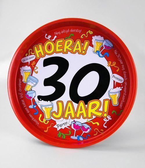 Dienblad Hoera 30 jaar 30cm