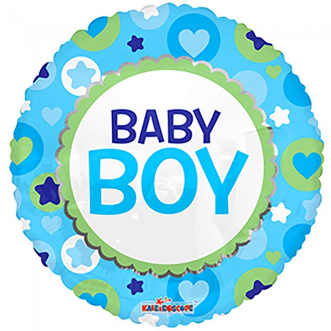 Folieballon Baby Boy 46cm