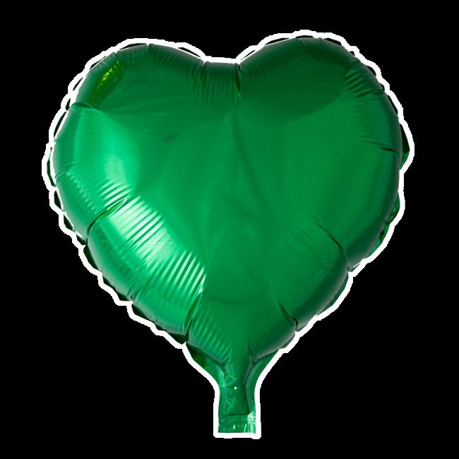 Folieballon Hart Uni Groen 46cm