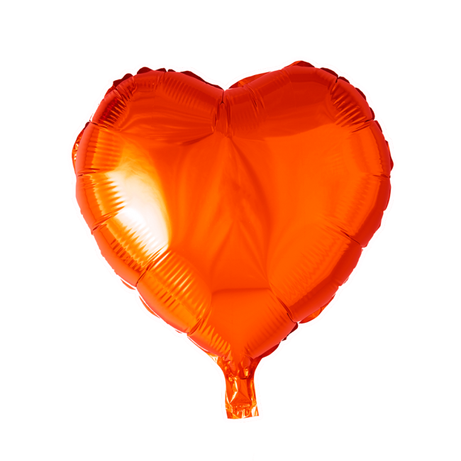 Folieballon Hart Uni Oranje 46cm