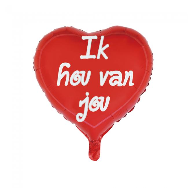 Folieballon Ik Hou Van Jou 46cm