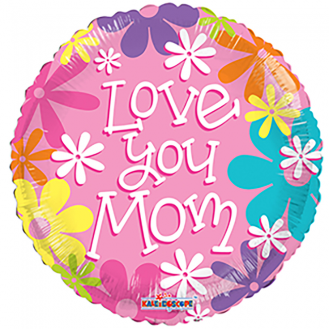 Folieballon Love You Mom 46cm