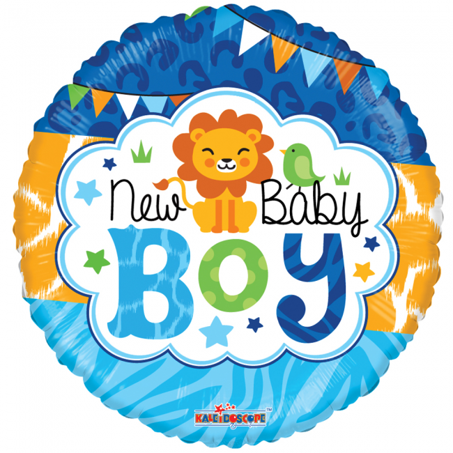 Folieballon New Baby Boy Jungle 46cm
