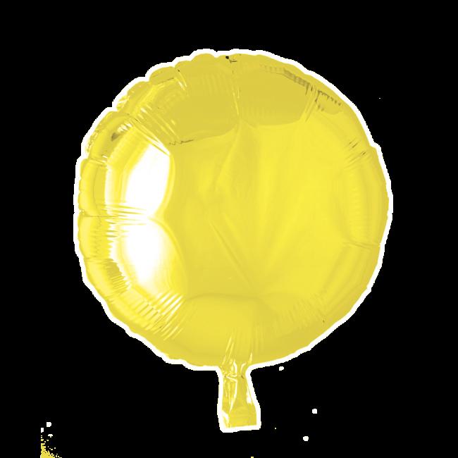 Folieballon Rond Uni Geel 46cm