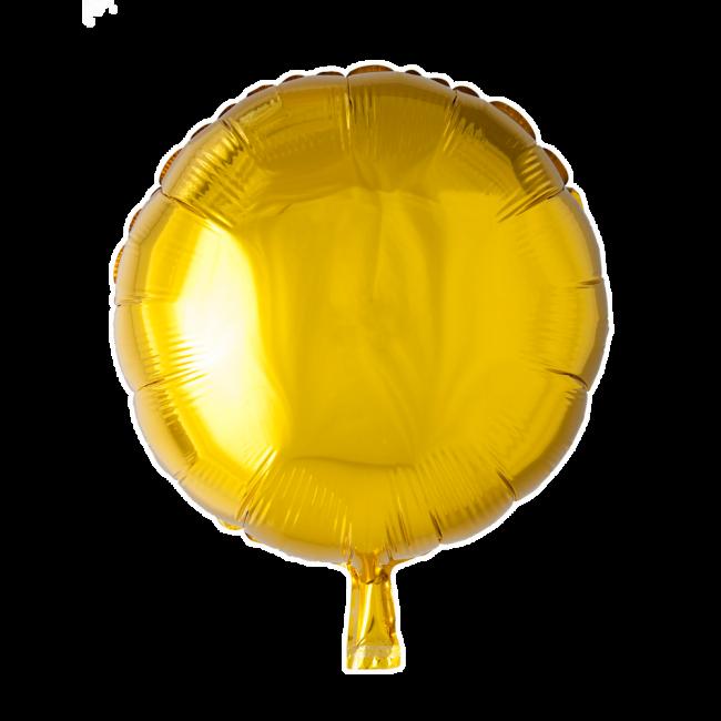 Folieballon Rond Uni Goud 46cm