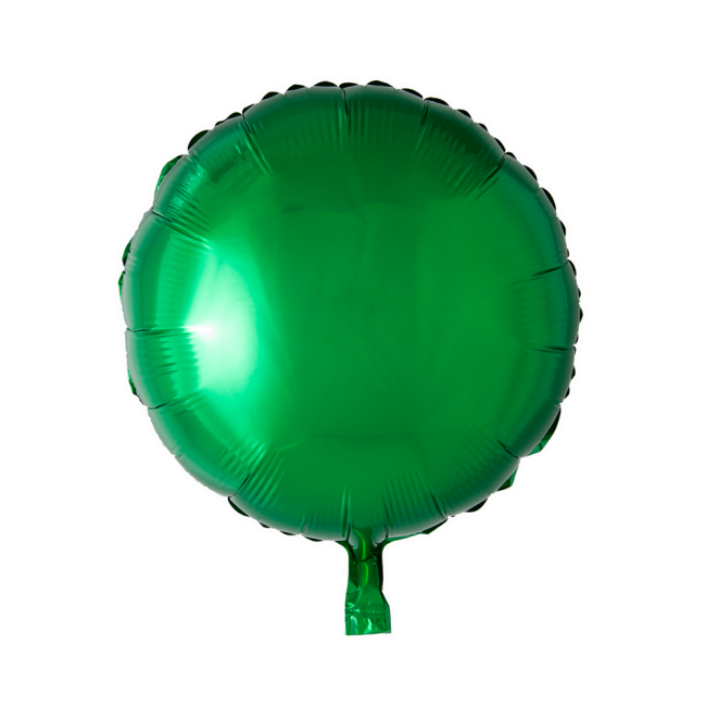 Folieballon Rond Uni Groen 46cm