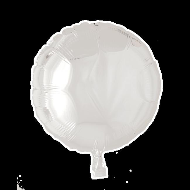 Folieballon Rond Uni Wit 46cm