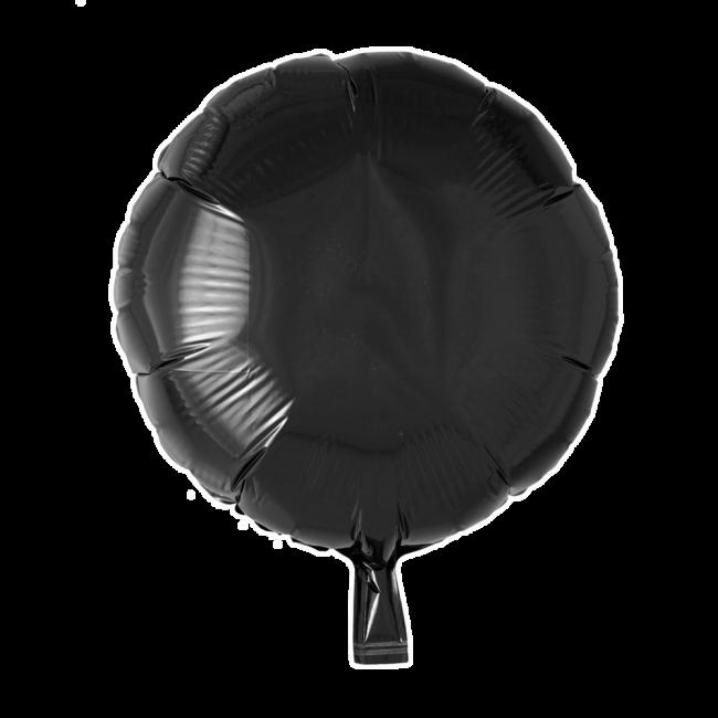 Folieballon Rond Uni Zwart 46cm