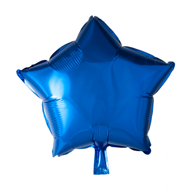 Folieballon Ster Uni Blauw 46cm