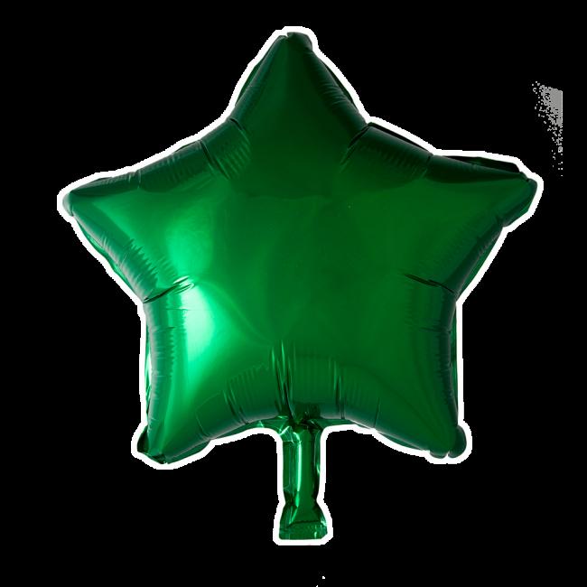 Folieballon Ster Uni Groen 46cm