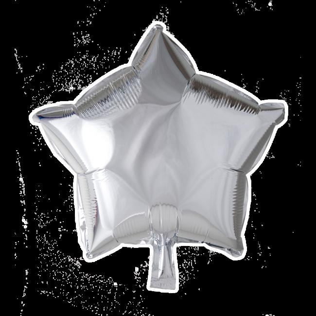 Folieballon Ster Uni Zilver 46cm