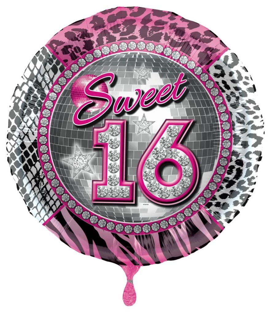 Folieballon Sweet 16 Tijger/Luipaard 43cm