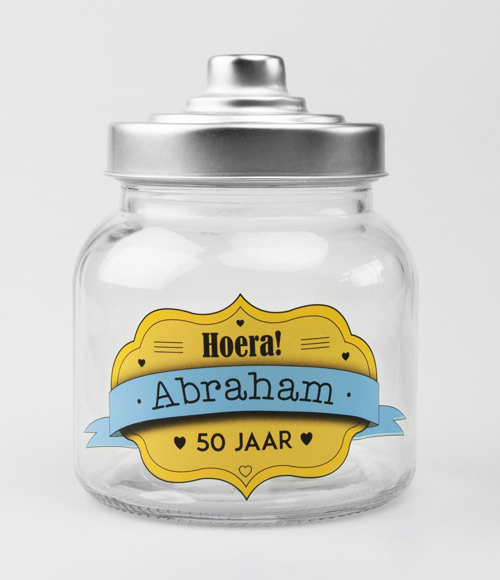 Glazen Snoeppot Abraham