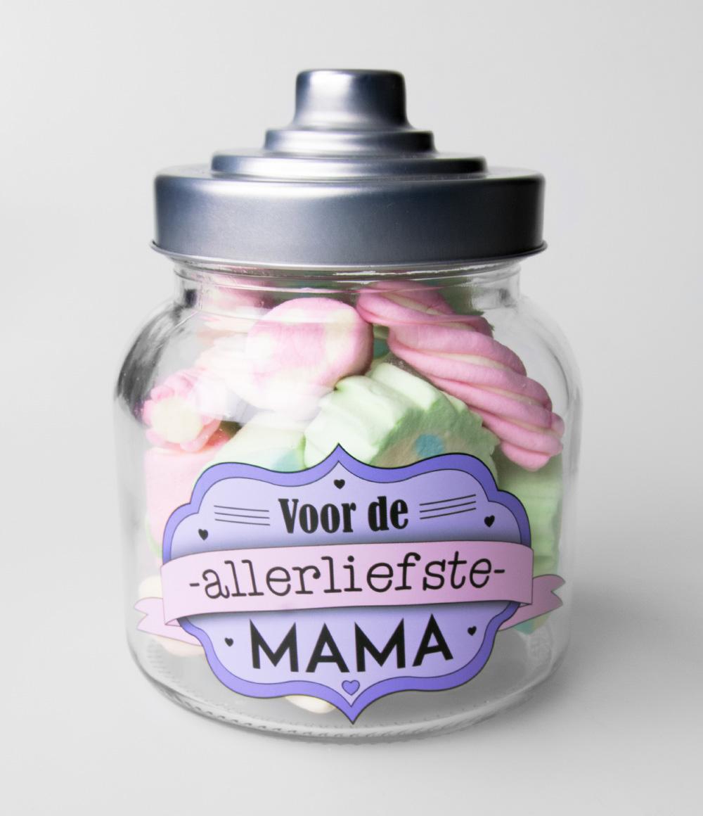Glazen Snoeppot Mama