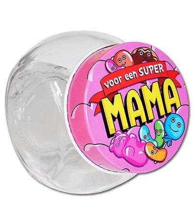 Glazen Snoeppotje-Super Mama