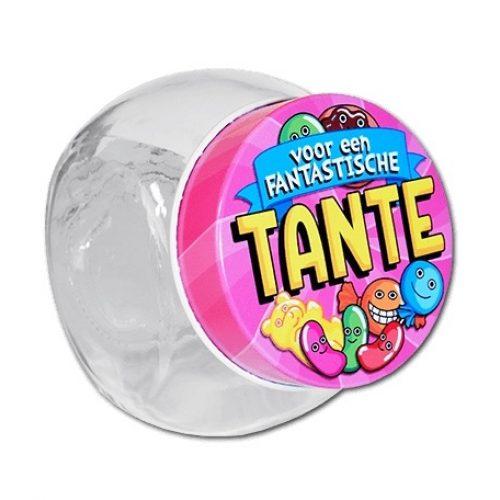 Glazen Snoeppotje-Tante
