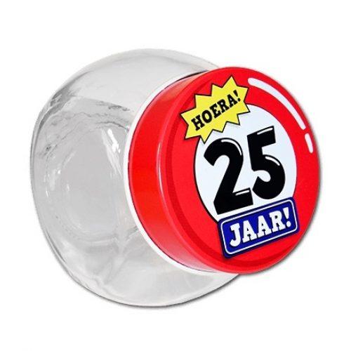 Glazen Snoeppotje-25 jaar