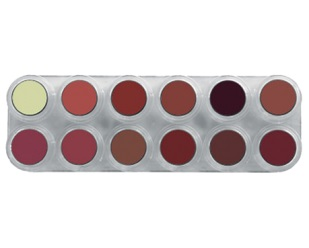 Grimas Lipstick 12kl Palet LB
