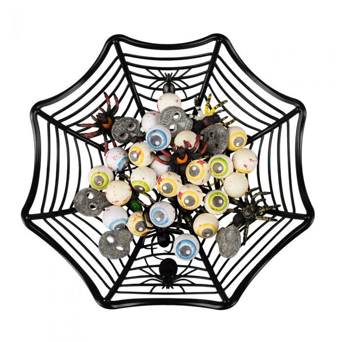 Halloween Mandje Spinnenweb 27cm