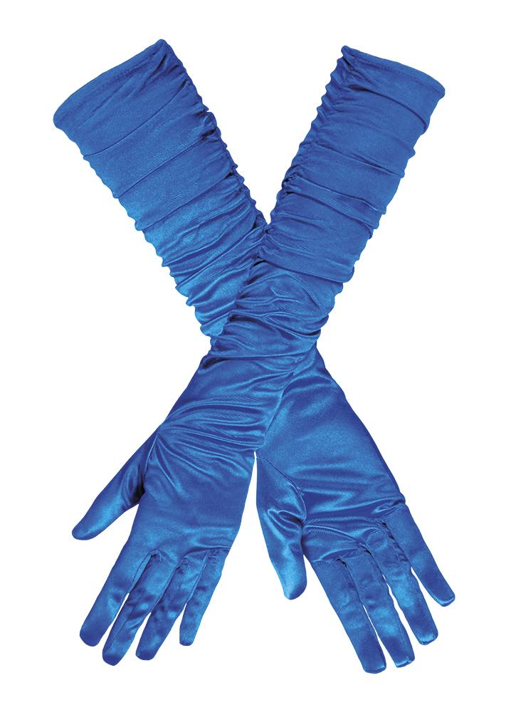 Handschoenen Hollywood Gerimpeld Cobalt Blauw
