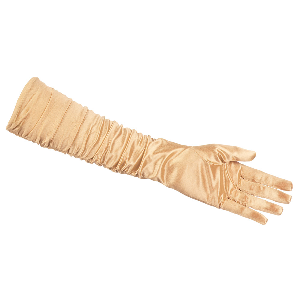 Handschoenen Hollywood Gerimpeld Goud