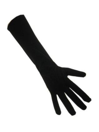 Handschoenen Lang Stretch Zwart Dun
