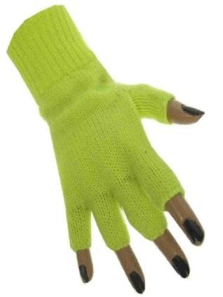 Handschoenen Vingerloos Fluor/Neon Geel
