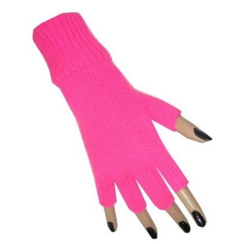 Handschoenen Vingerloos Fluor/Neon Roze