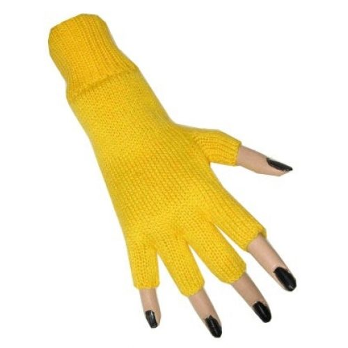 Handschoenen Vingerloos Geel