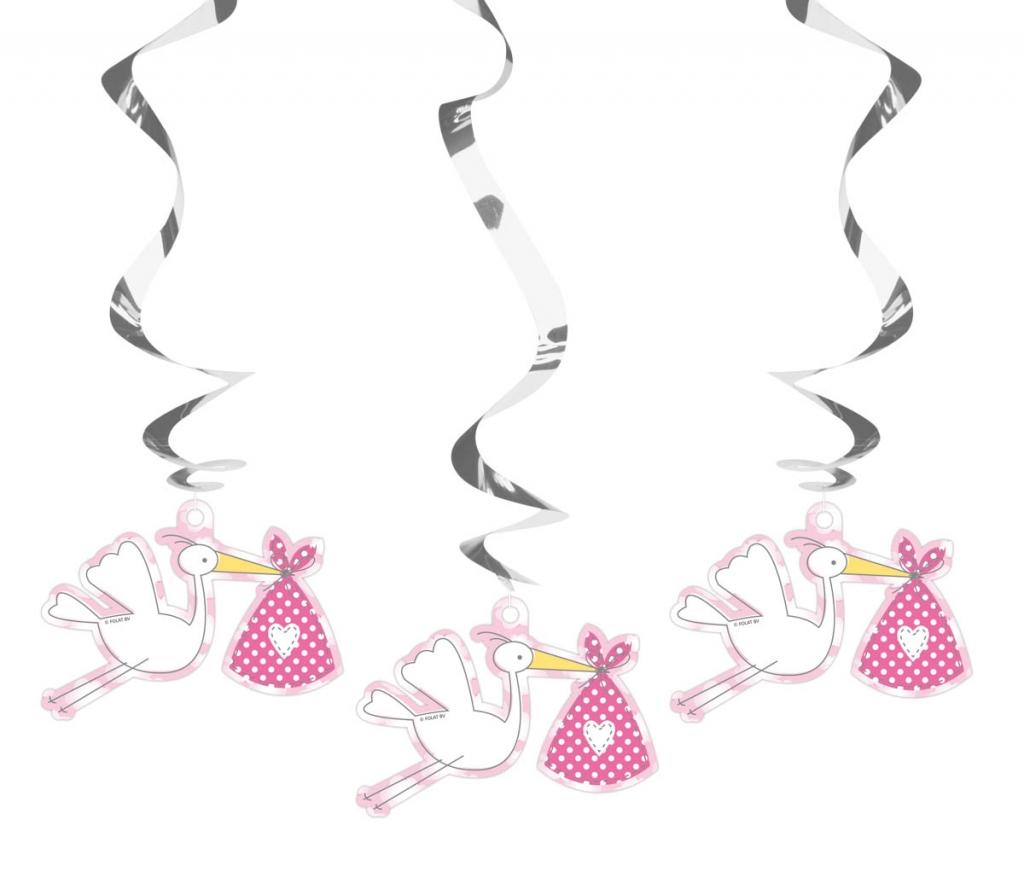 Hangdeco Spiraal Meisje 3stuks