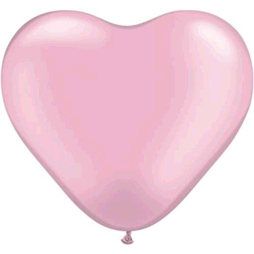 """5st Hart Ballonnen Roze 15"""" (groot)"""