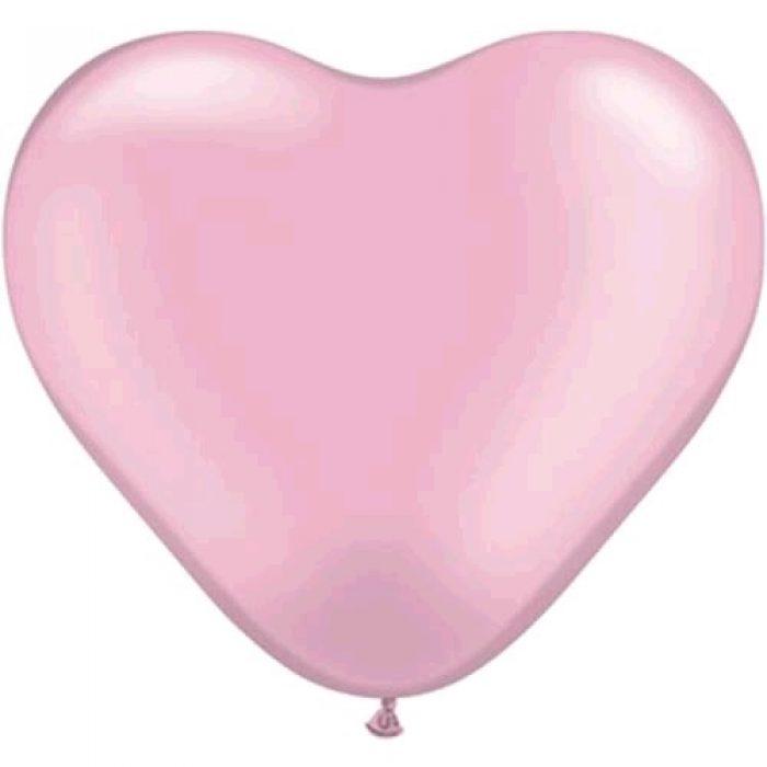 """10st Hart Ballonnen Roze 6"""" (klein)"""