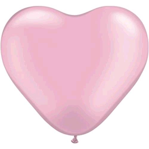 "100st Hart Ballonnen Roze 10"" (middel)"