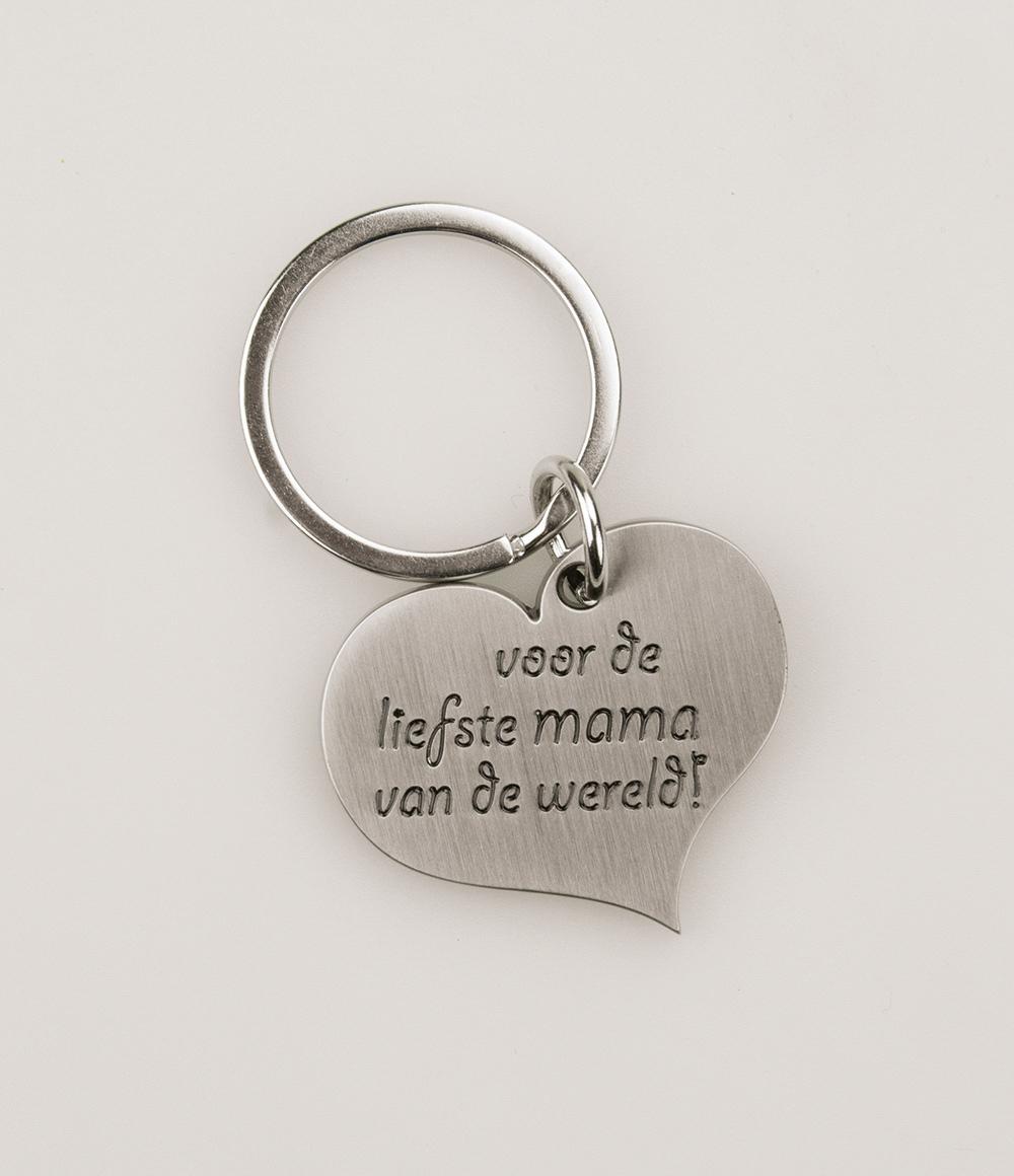 Hart Sleutelhanger Liefste Mama