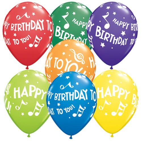 """5st Helium Ballonnen HBTY Muziekn. 11"""""""