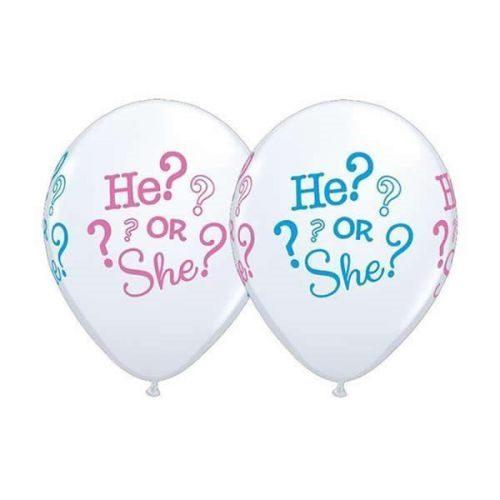 """5st Helium Ballonnen He? or She? 11"""""""