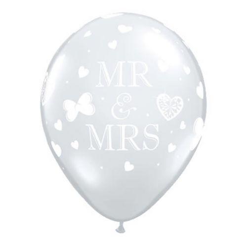 """5st Helium Ballonnen MR. & MRS. 11"""""""