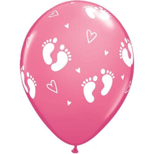 """5st Helium Ballonnen Voetjes Roze 11"""""""