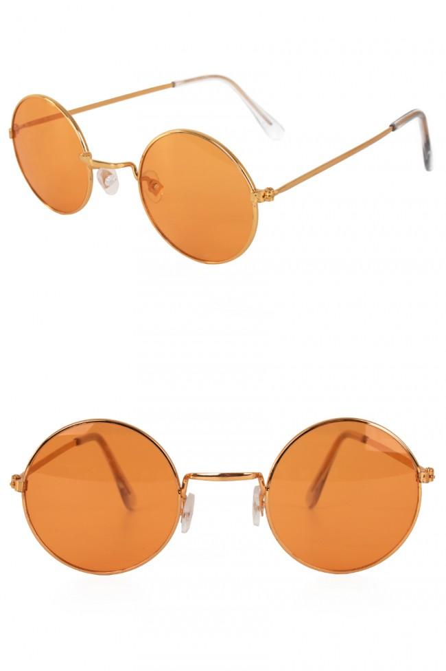 Hippie/Uilebril Oranje Glas