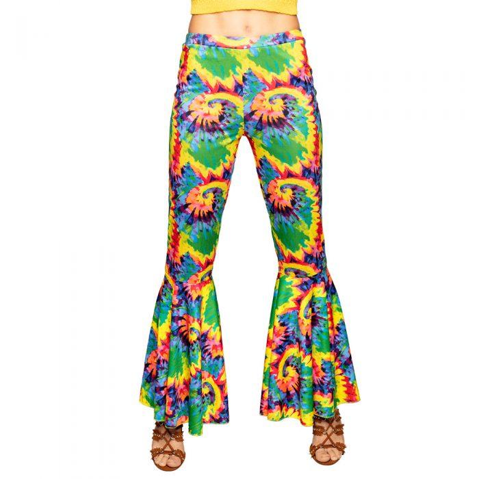 Hippie Broek Stretch Dames Gekleurd Mt.M