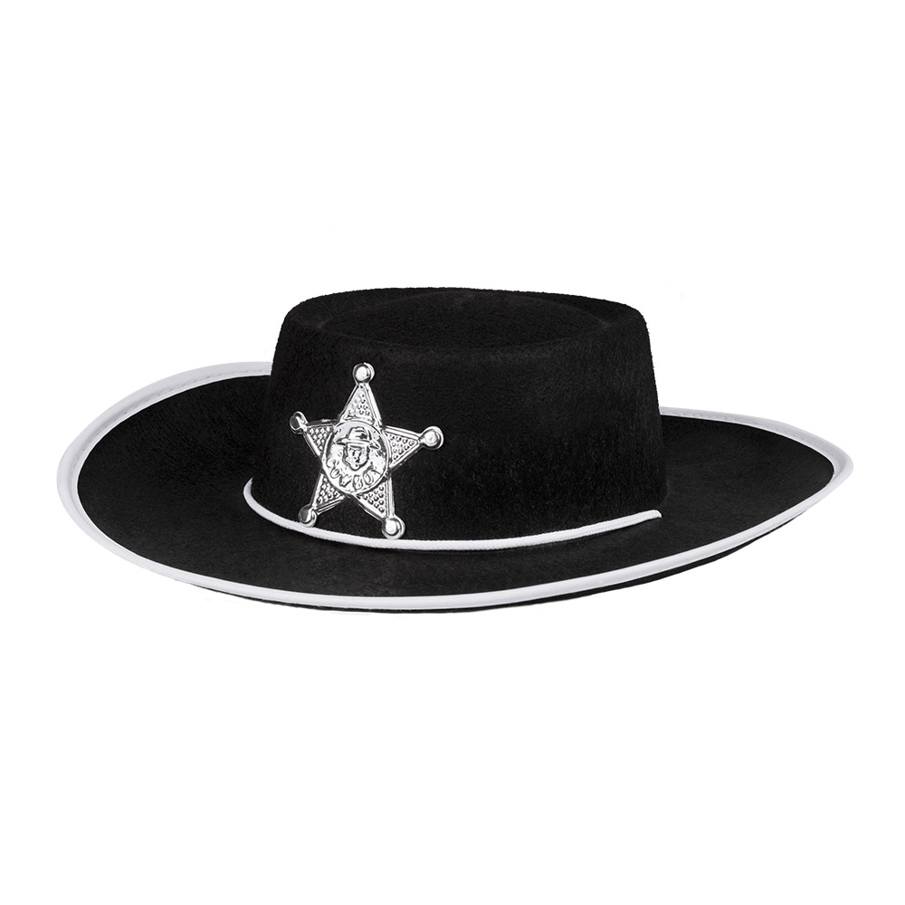 Hoed Sheriff Rood/Bruin/Zwart Kind