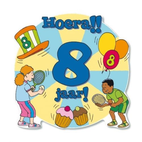 Huldeschild-Kids 8 jaar