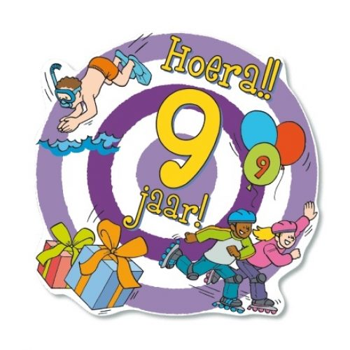 Huldeschild-Kids 9 jaar