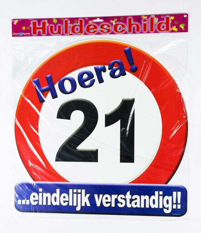 Huldeschild Verkeersbord 21 jaar